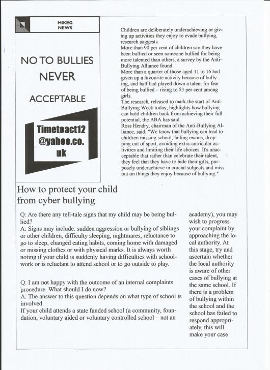 BULLYING-KEEPING YOUR CHILD SAFE